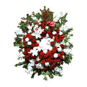 Corona blanca y roja